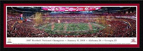 College Football Mat - Alabama - 2017 College Football National Champion - Single Mat, Select Framed Print by Blakeway Panoramas