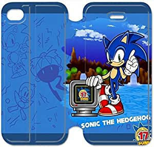Leather Smart Cover With Flip Stand Phone Case iphone 6 6S 4.7 inch-Game boy Sonic The Hedgehog-13