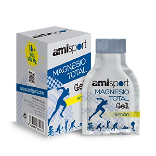 Amlsport Magnesio Total Gel - 12 sobres x 20 ml Limón: Amazon.es: Alimentación y bebidas