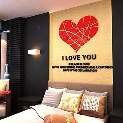 Mirror Wall Stickers Art Home Decoration Heart 3D Wall Stickers ILOE