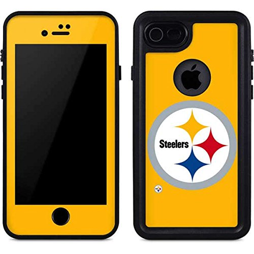 Skinit Pittsburgh Steelers iPhone 8 Waterproof Case - Officially Licensed NFL Phone Case - Waterproof iPhone 8 Cover ()