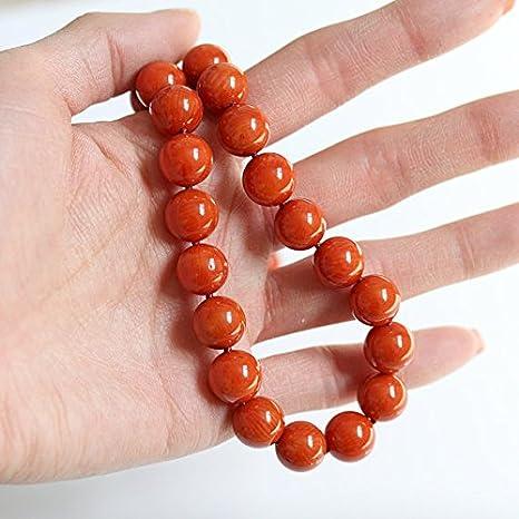 Collar de coral con cuentas grandes, auténtico collar de coral rojo y naranja, joyería inspirada en la vintage, cierre de filigrana de plata de ley, regalo de 35 aniversarios, 11 mm