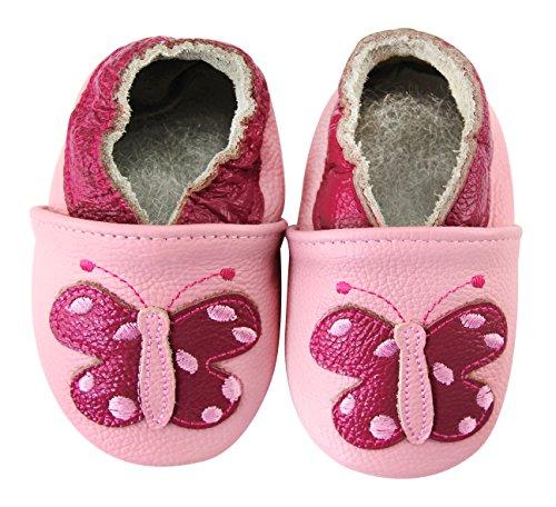 Schmetterling Babyschuhe Baby Krabbelschuhe Kindergartenschuhe Lederschuhe Axy Lauflernschuhe qAwaxdYYI
