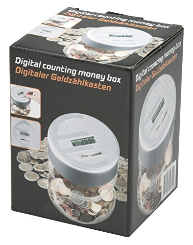 Spardose digital mit Zählwerk Münzzähler Sparschwein Sparbüchse Geldkassette NEU
