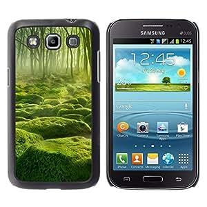 // PHONE CASE GIFT // Duro Estuche protector PC Cáscara Plástico Carcasa Funda Hard Protective Case for Samsung Galaxy Win I8550 / Misty verde Forrest /