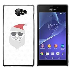 iKiki Tech / Estuche rígido - White Christmas Winter Holidays - Sony Xperia M2