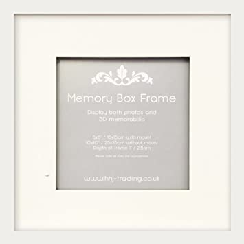 10x10 6x6 deep white memory box photo frame
