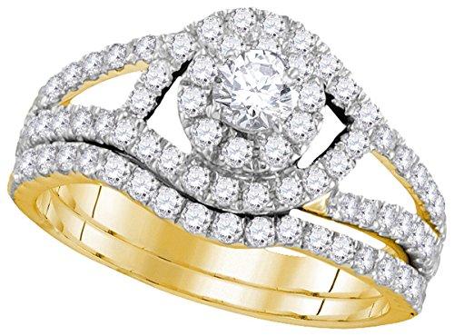 Yellow Gold Ladies Bridal Rings - 7