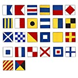 Marine Naval Signal Flags/Flag SET- Set of Total 26 flag Code -Total 28 Flag – Nautical/Maritime Boat/Ship / Vessel/Nautical Décor (5113)
