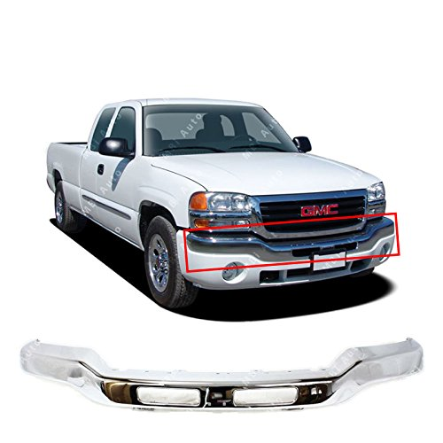 MBI AUTO – Chrome Steel, Front Bumper Face Bar for 2003 2004 2005 2006 GMC Sierra 1500 2500HD 3500 & 2007 Classic Pickup, GM1002418