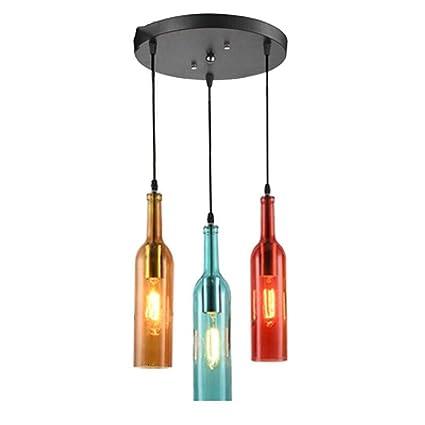 Araña decorativa Retro Color industrial Botella de vino ...