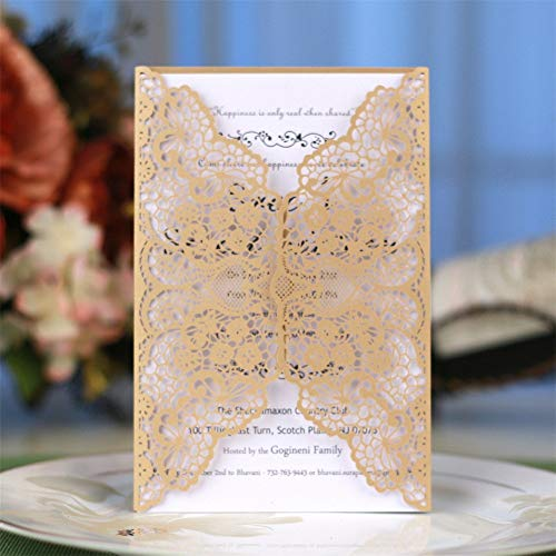 Meka-supplies - 10Pcs Delicate Carved Romantic Wedding Party Invitation Card Envelope from Meka-supplies