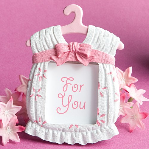 Pink Resin Baby Frame (Cute baby themed photo frame favors - girl, 36)