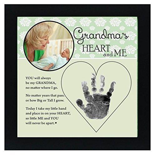 Baby Child Keepsake Handprint Frame with Poetry - Mommy, Daddy, Grandma or Grandpa (Grandma) by The Grandparent Gift -