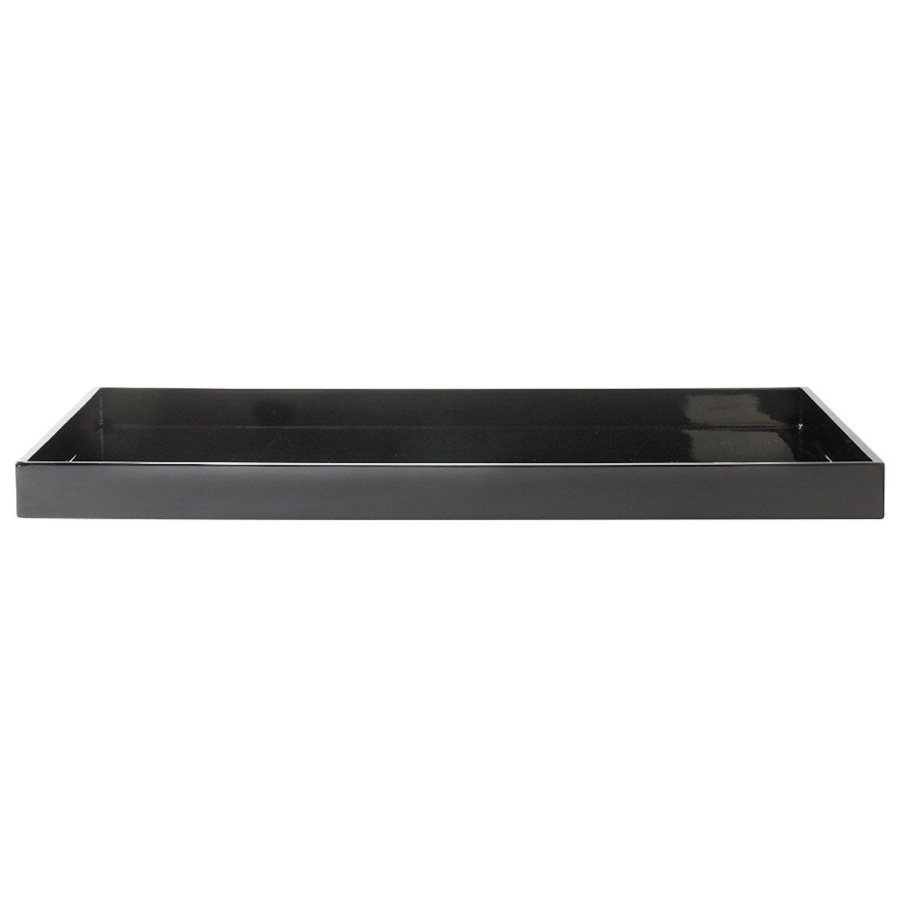 mojoo dänemark Lacktablett rechteckig XL, schwarz schwarz