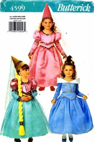 Butterick 4599 Sewing Pattern Girls Princess Dress Costume Size 2 - 6X]()