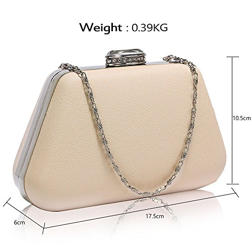With Design Clutch Hard design 1 New Designer Evening Box Bag Chain Handbag Ladies Different Womens Nude Case q7qxXT