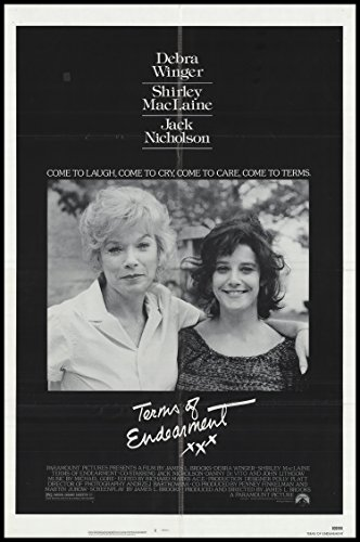 "Terms of Endearment 1983 ORIGINAL MOVIE POSTER Comedy Drama - Dimensions: 27"" x 41"""