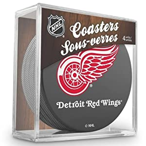 Sher-Wood Detroit Red Wings NHL Eishockey Puck Untersetzer (4er Set)