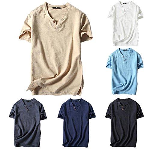 Maniche Corte Tees Styledresser T Uomo 2018 Tops Uomini Estiva Camicetta Shirt Maglietta Camicie Stile Casual Beige Pullover Top Da qpwXAx4gnw
