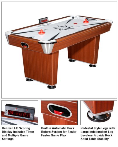 FamilyPoolFun Midtown 6' Air Hockey Table by Blue Wave