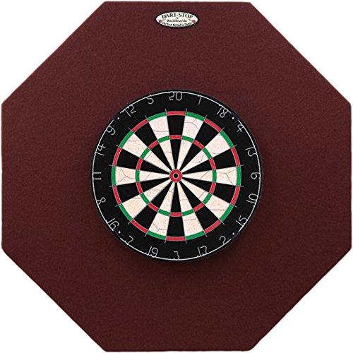 Dart-Stop 36 inch Burgundy Octagon Pro Dart Board Back Board | Wall Protector | Dartboard Surround
