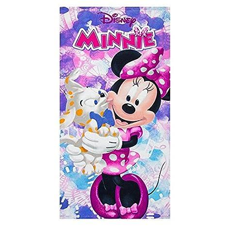 Minnie Toalla de baño - toalla de playa Disney 100% microfibra: Amazon.es: Hogar