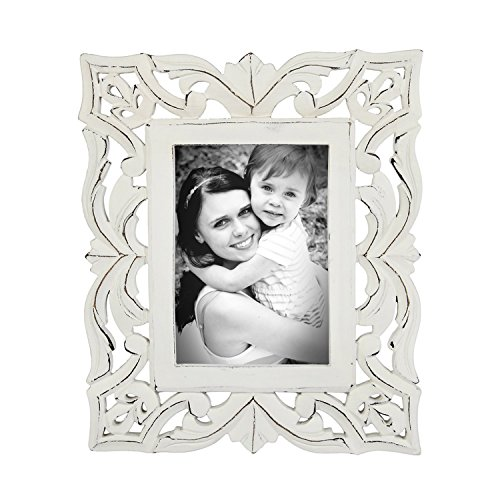 Vintage Wooden Single Picture Photo Frame Tabletop Holder with Stand Home Decor |Handmade| (7 X 5 - India Frames Vintage