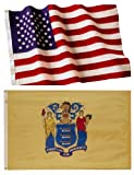 Cheap New Jersey State Flags (5×8 US Combo)