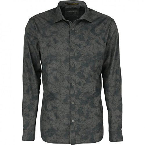 66b3b37287 No Excess - CAMISA NO EXCESS MANGA LARGA ESTAMPADA - Grey