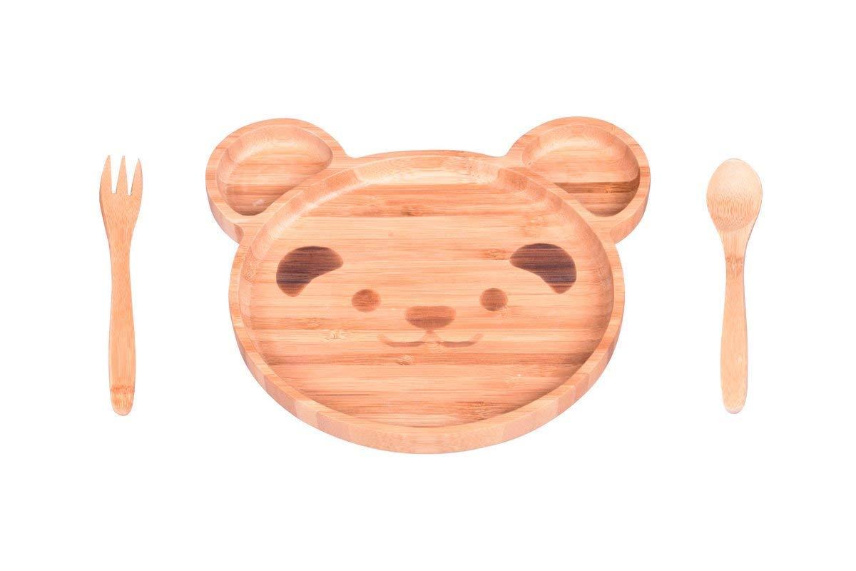 人気ブランドを OZINCI 100%竹 ラグジュアリーシリーズ 車テーマプレート フォーク フォーク スプーン 食事セット OZINCI 食事セット 赤ちゃん 幼児用 Teddy Bear B07P515QKJ, ネヤガワシ:5fdbb97b --- yelica.com