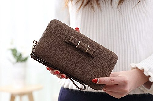 - Bag Wallet Small Ladies' designer soft leather clutch purse wallet card holder