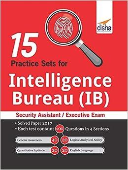 Buy 15 Practice Sets for Intelligence Bureau (IB) Security Assistant