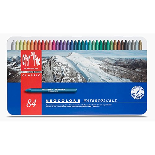 Price comparison product image Caran d'Ache Classic Neocolor II Water-Soluble Pastels, 84 Colors
