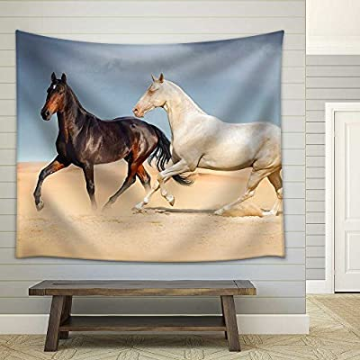 Horses in Mountain Valley Beautiful Natural Landscaoe Fabric Wall, That's 100% USA Made, Unbelievable Portrait