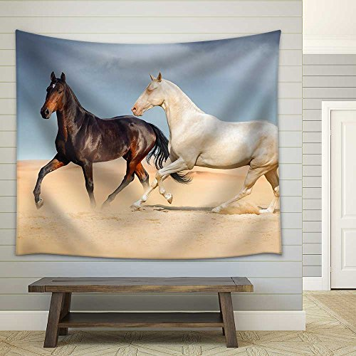 Horses in Mountain Valley Beautiful Natural Landscaoe Fabric Wall