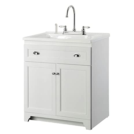 Foremost Keats 30 in. Laundry Vanity with Acrylic Sink and Faucet ...