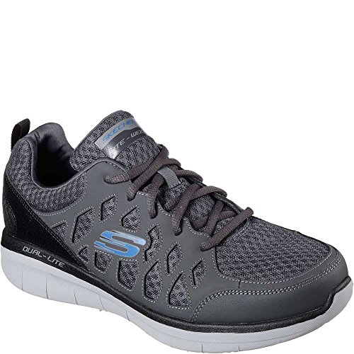 Skechers Mens Synergy 2.0 Peslier Cross Training Charcoal / Black D (m) Us Charcoal / Black