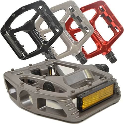 Lumintrail PD-895B Big Foot MTB BMX Aluminum Platform Bike Pedals 9/16