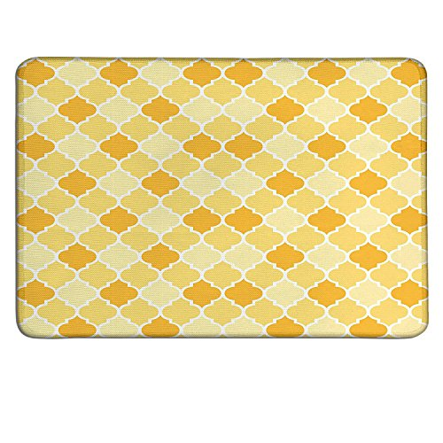 Quatrefoil slimline mouse pad Age-Old Trellis Pattern in the Shades of Yellow Historical Easternart deco mouse pad Marigold Mustard - Sox Mlb Pattern
