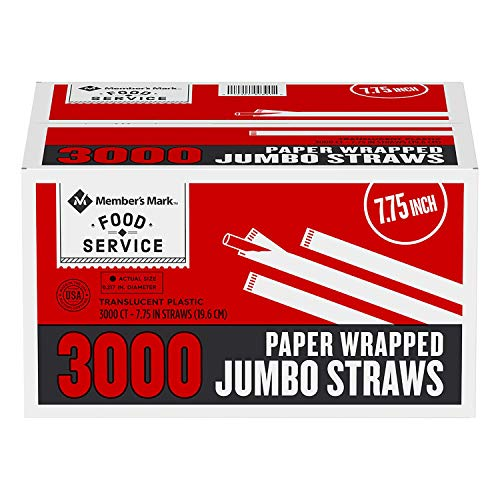 Member's Mark Jumbo Wrapped Straws (3,000 ct.) ()