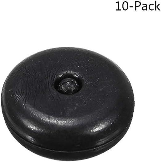 Tap/ón Bot/ón Cierre Seguridad para Coche,Universal Plastico Boton para Cinturon de Seguridad,Color Negro 10 pcs Topes para Cinturon de Seguridad,GZQ