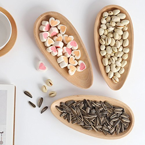 He Xiang Ya Shop Wooden plate solid wood European melon tray living room creative snack box home modern minimalist dried fruit box melon tray (Color : Wood color, Size : 209.52cm) by He Xiang Ya Shop (Image #2)'