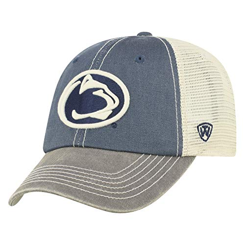 Top of the World Penn State Nittany Lions Men's Mesh-Back Hat Icon, Navy, Adjustable