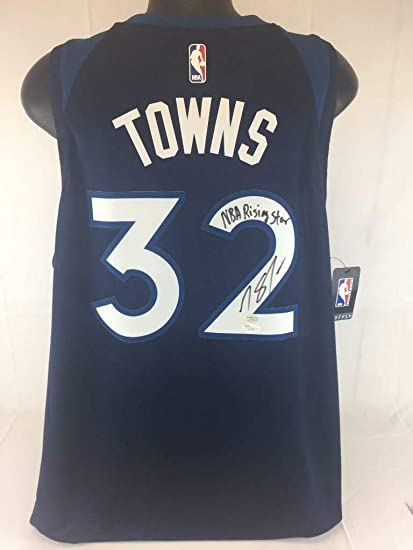 cheaper 9a737 68b5e Autographed Karl-Anthony Towns Jersey - Rising Star Nike ...