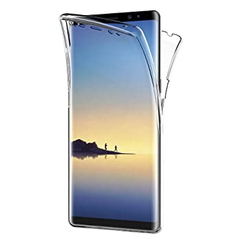 AICEK Funda Samsung Galaxy Note 8, Transparente Silicona 360°Full Body Fundas para Samsung Note 8 Carcasa Silicona Funda Case (6,3 Pulgadas)