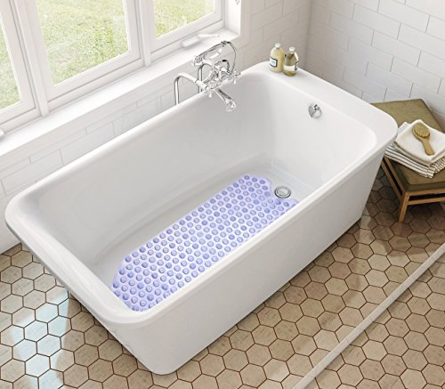 Estilo extra long vinyl bath mat non slip bathtub mat for Extra long soaking tub
