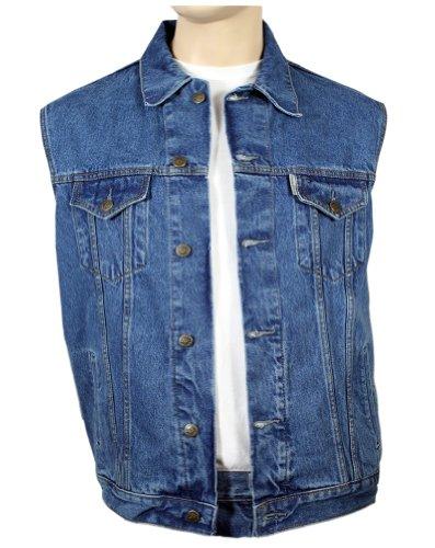 WESTERN-SPEICHER Jeansweste, Blau, Größe 3XL