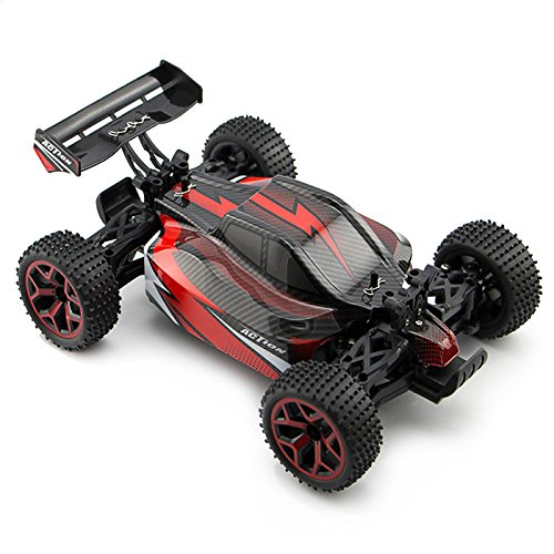 Buggy Rc - Zhencheng 1/18 Scale Electric RC Off Road Truck 2.4Ghz 4WD Extreme Speed Buggy 4x4 Racing RC Car Toy Vehicle,Red