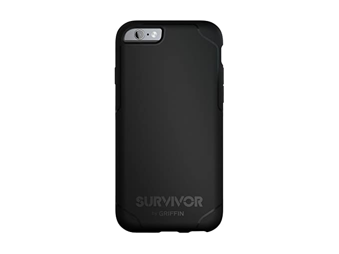 new concept 10c2f d026f Griffin Survivor Strong iPhone 6/6s Case with Slim and Shock-Absorbing  Design - Black/Grey